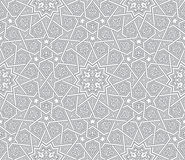 伊斯兰教的装饰品灰色传染媒介背景 免版税库存图片