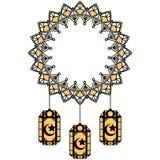 伊斯兰教的装饰坛场和灯笼 库存照片