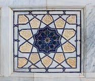 伊斯兰教的马赛克墙壁细节  库存照片