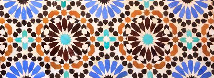 伊斯兰教的马赛克摩洛哥样式有用作为背景 免版税库存图片