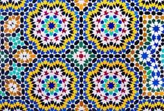 伊斯兰教的马赛克摩洛哥样式有用作为背景 库存图片