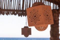 伊斯兰教的黏土灯 免版税库存照片