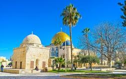 伊斯兰教的建筑学在耶路撒冷 库存图片