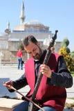 伊斯兰教苦行僧音乐家在科尼亚,土耳其 免版税库存照片
