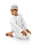 伊斯兰的说明祈祷 库存照片