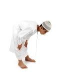 伊斯兰祈祷说明充分的serie 库存照片