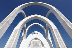 伊斯兰纪念碑在多哈,卡塔尔 库存照片