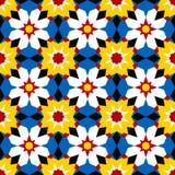 伊斯兰马赛克 无缝几何的模式 库存例证