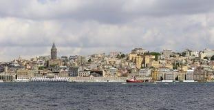 伊斯坦布尔全景 免版税图库摄影