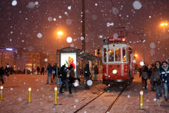 伊斯坦布尔冬天 库存照片