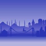 伊斯坦布尔剪影向量 皇族释放例证