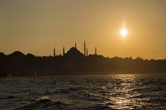 伊斯坦布尔剪影 免版税图库摄影