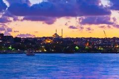 伊斯坦布尔土耳其日落 库存图片