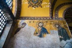 伊斯坦布尔土耳其:2016年4月10日 圣索非亚大教堂Ayasofya的内部在伊斯坦布尔,土耳其-建筑片段 库存照片