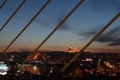 伊斯坦布尔地铁桥梁 免版税库存照片