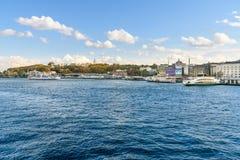 伊斯坦布尔堤防 火鸡 免版税库存图片
