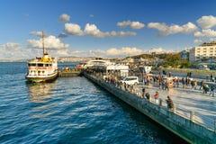 伊斯坦布尔堤防 火鸡 库存照片