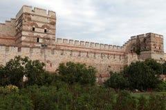 伊斯坦布尔墙壁。 免版税库存照片