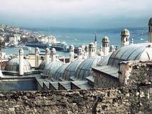 伊斯坦布尔屋顶  库存图片