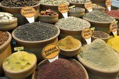 伊斯坦布尔市场香料火鸡 免版税库存图片
