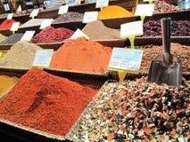 伊斯坦布尔市场香料 免版税库存图片