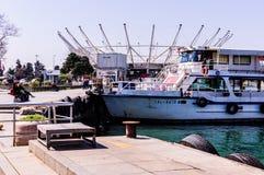 伊斯坦布尔市海运输海岸线 库存照片