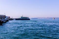 伊斯坦布尔市海运输海岸线 免版税库存照片