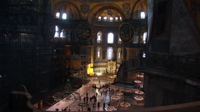 伊斯坦布尔市,圣索非亚大教堂人,土耳其12月2016年, 影视素材