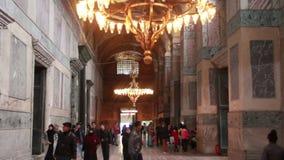 伊斯坦布尔市,圣索非亚大教堂,人们,土耳其12月2016年, 股票录像