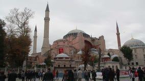 伊斯坦布尔市,圣索非亚大教堂,人们,土耳其12月2016年, 影视素材