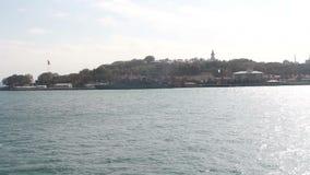 伊斯坦布尔市,海上旅行,土耳其12月2016年, 股票录像