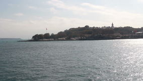 伊斯坦布尔市,海上旅行,土耳其12月2016年, 股票视频