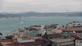 伊斯坦布尔市,自然视图,土耳其12月2016年, 影视素材
