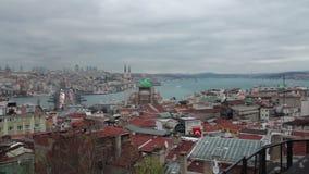 伊斯坦布尔市,自然视图,土耳其12月2016年, 股票视频
