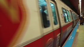 伊斯坦布尔市,进行中地铁乐趣土耳其12月2016年, 股票录像