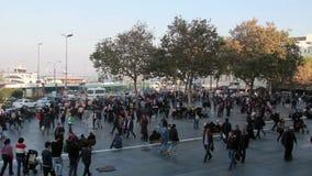 伊斯坦布尔市/人拥挤/time流逝2015年12月 股票视频
