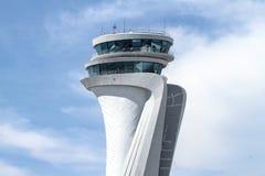 伊斯坦布尔新的机场空中交通管理塔  库存图片