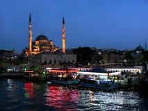 伊斯坦布尔晚上 图库摄影