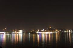 伊斯坦布尔晚上 免版税图库摄影