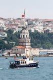 伊斯坦布尔未婚塔 库存照片
