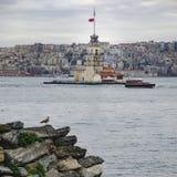 伊斯坦布尔未婚s塔 免版税图库摄影