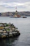 伊斯坦布尔未婚s塔 免版税库存图片