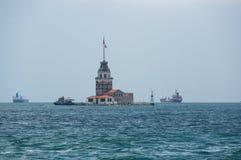 伊斯坦布尔未婚s塔 库存照片