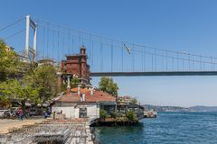 伊斯坦布尔桥梁  火鸡 免版税库存照片