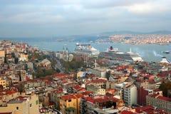 伊斯坦布尔横向屋顶 免版税图库摄影