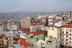 伊斯坦布尔横向屋顶 图库摄影