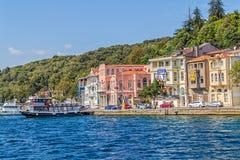 伊斯坦布尔沿海Sariyer 免版税库存照片