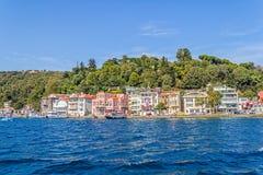 伊斯坦布尔沿海Sariyer 免版税图库摄影