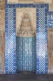 伊斯坦布尔清真寺瓦片装饰 图库摄影