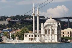伊斯坦布尔清真寺ortakoi 库存照片